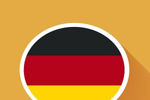 Speech bubble with Germany flag