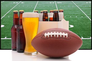Beer Bottles and American Football