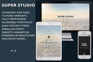 SUPER STUDIO - Parallax onepage