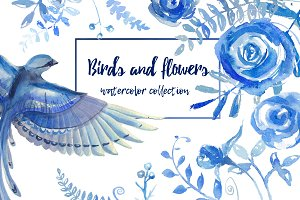 -50%!!! Birds and flowers