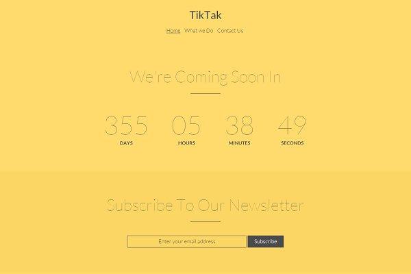 TikTak - coming soon responsive HTM…