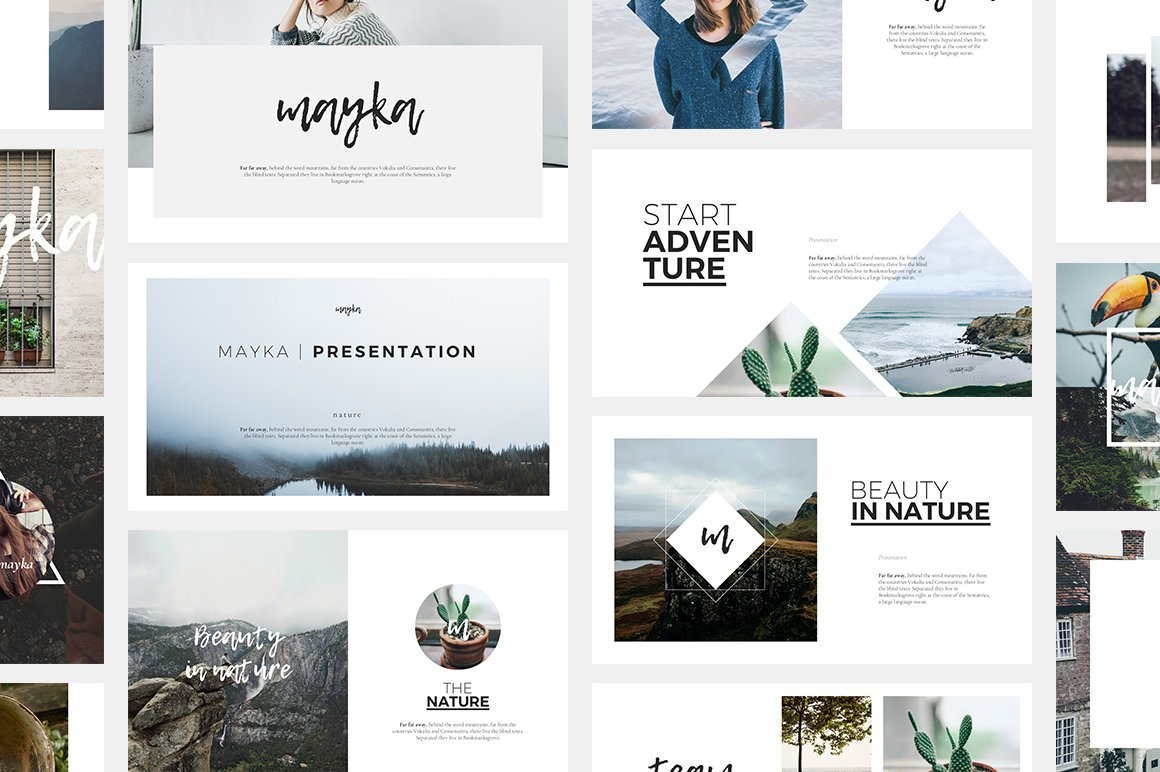 Mayka powerpoint template presentation templates for What is a design template in powerpoint