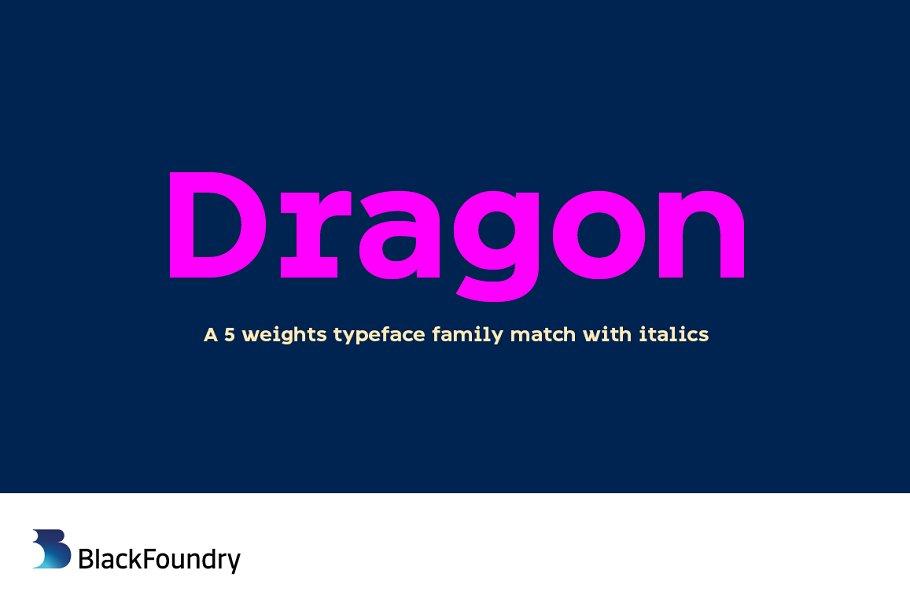 Dragon Medium Sans Serif Fonts Creative Market