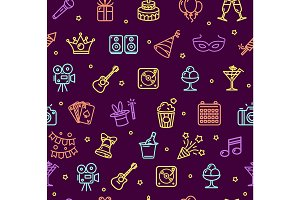 Party Background Pattern. Vector