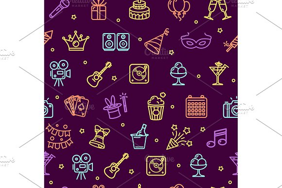 Party Background Pattern. Vector - Patterns