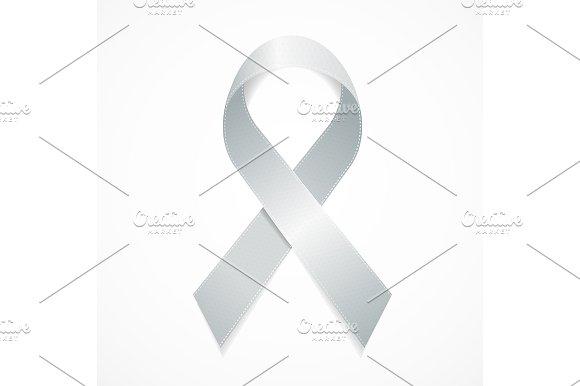 White Awareness Loop Ribbon