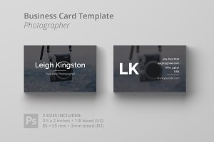 Business Card Template - Photo