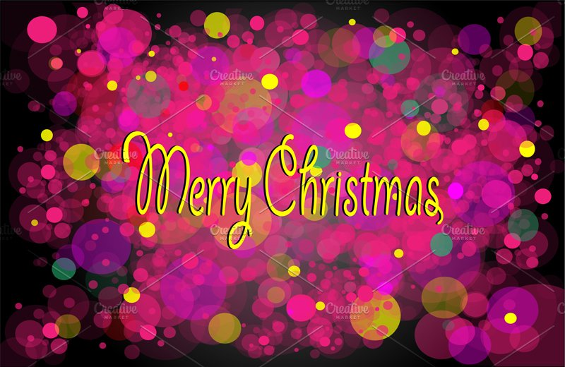 merry christmas background yellow graphics creative market - Merry Christmas Background