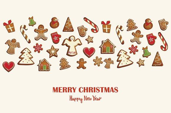 SALE Gingerbread Cookies Card