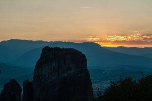 Sunrise in Meteora