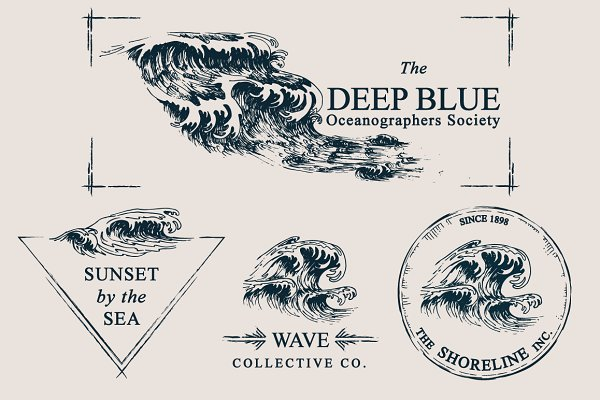 Wave Drawings & Logo Templates