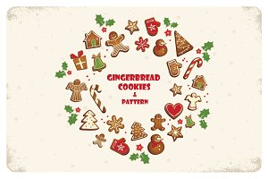 SALE!Gingerbread cookies and pattern