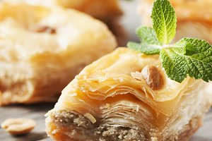 Traditional arabic dessert Baklava