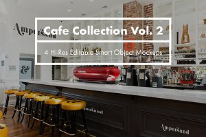 Cafe Collection Vol. 2 - PSD Mockups