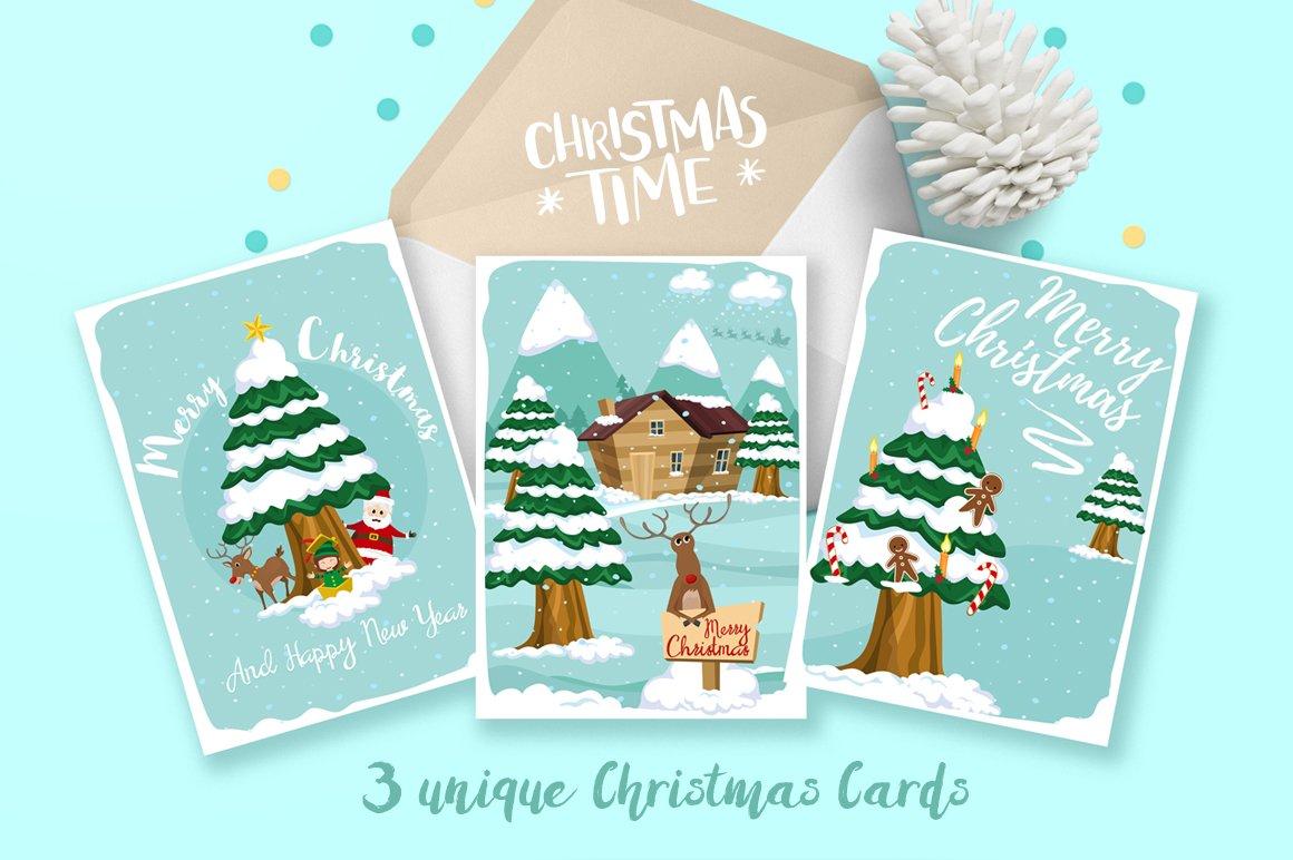 Christmas Cards Card Templates Creative Market