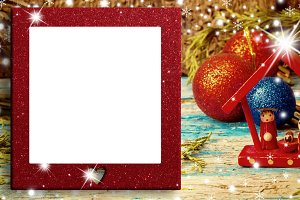 Christmas blank photo frame card