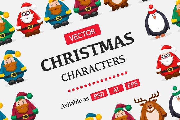 Set Christmas Characters 2017