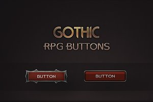 Gothic RPG Buttons