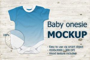 Baby onesie mockup