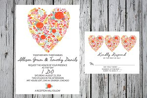 Printable Heart Invitation