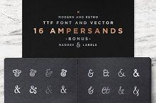 16 Ampersands Set
