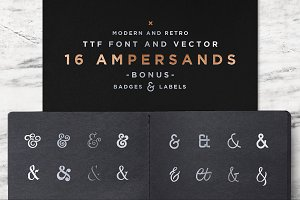 16 Ampersands Set