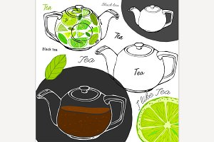 Hand Drawn Tea Concept