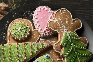 New year homemade gingerbreads