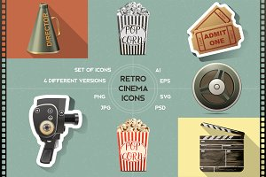 Retro cinema icons