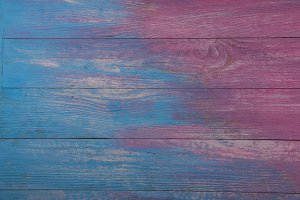 pink and blue wooden background