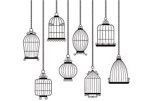Digital Bird Cages Set