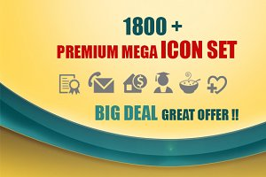 1800 Premium Mega Vector Icon Set