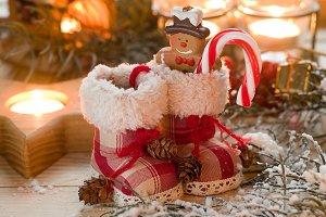 Christmas retro boots