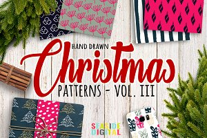 Hand Drawn Christmas Patterns III