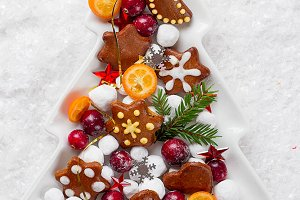 Gingerbread cookies and candy