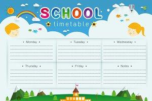 School Timetable, Schedule,Weekly