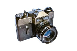 Retro camera isolated