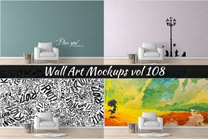 Wall Mockup - Sticker Mockup Vol 108