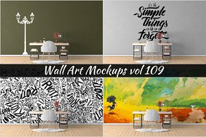 Wall Mockup - Sticker Mockup Vol 109