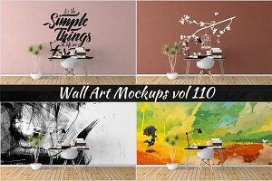 Wall Mockup - Sticker Mockup Vol 110