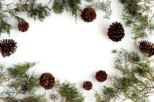 Christmas Flatlay - Stock Image