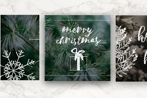 Vintage Christmas Photo Overlays