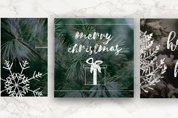 Vintage Christmas Photo Overlays