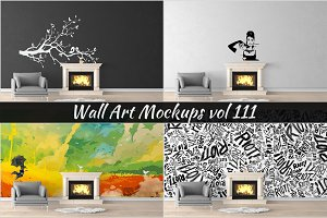 Wall Mockup - Sticker Mockup Vol 111