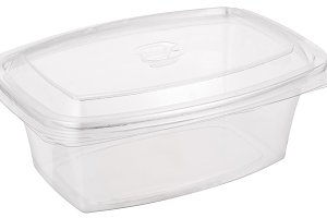 White plastic bowl with cap