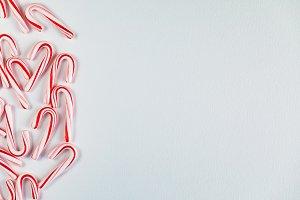 Christmas Candy Cane Styled Mockup
