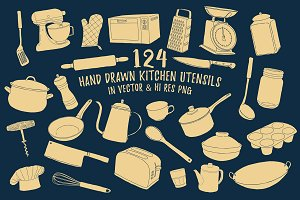 Hand Drawn Cooking & Kitchen Utensil