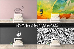 Wall Mockup - Sticker Mockup Vol 112