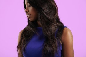 black woman with healthy hair