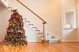 Colorful Christmas in home